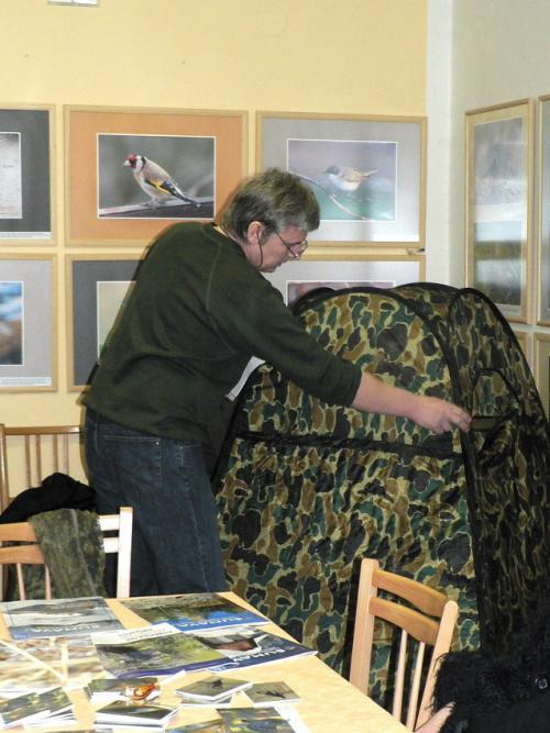 Vernisáž k výstavě fotografií ptáků 2009